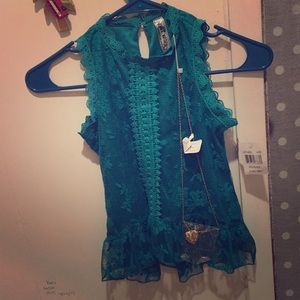 Turquoise blouse brand new